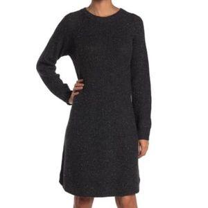 Madewell Donegal Thunder Sweater Dress Medium NEW